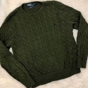 100%Pima Cotton Ralph Lauren Cableknit Sweater XXL